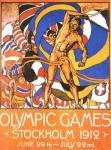 olympic games  poster 1912 Stockhom