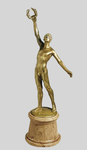 The Victorious Athlete statuette