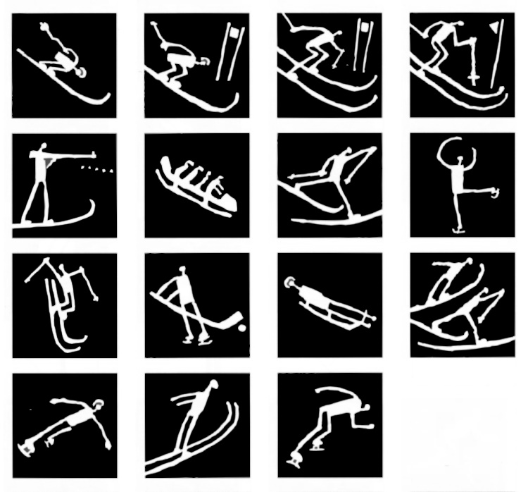 pictogram olympic games 1994 lillehammer